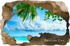 Huge 3D Smugglers Cove Beach Cave View Wall Stickers Mural  Decal Film 56