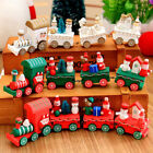 Christmas Creative Wooden Xmas Train Santa Claus Festival Ornament Kids Gift Toy