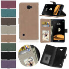 Stand Wallet Matte Flip Leather Slot Credit TPU Soft Skin Case Cover For LG Moto