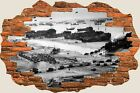 3D Hole in Wall Army D Day Landing View Wall Stickers Decal Wallpaper Mural 908