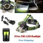 3Sets Rechargeable Headlamp 20000LM  T6 LED Light Headlight+18650+Charger ?