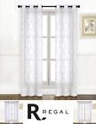 2 Pack: Regal Home Metallic Bryson Embroidery Grommet Curtains - Assorted Colors