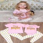 Matching Clothes Big Sister T-shirt&pants Little Sister Romper Outfits  Stylish