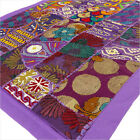 """20 X 40"""" Purple Patchwork Tapestry Wall Hanging Boho Decorative Bohemian Indian"""