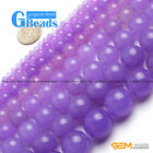 "Light Purple Jade Round Beads For Jewelry Making Free Shipping 15"" 4mm 6mm 8mm"