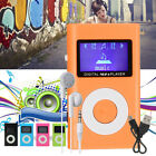 Portable Mini Digital MP3 Music Player LCD Screen Support 32GB TF Card +Earphone
