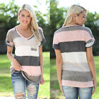 Fashion Womens Summer Loose Tops Blouse Ladies Short Sleeve Casual Tops T-Shirt