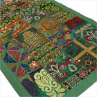 "20 X 60"" Green Patchwork Wall Hanging Decorative Boho Bohemian Indian Tapestry"