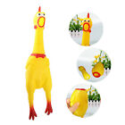 Screaming Shrilly Yellow Rubber Chicken Pet Dog Toys Boy Kids Sound Toy Doll