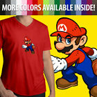 super mario hoops - Super Mario Bros Hoops Basketball Nintendo Sports Baller Mens Tee V-Neck T-Shirt