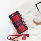 Trend Simple lattice Love tassels Strap Soft case Cover for iPhone 8 X 7 6S Plus