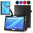 Luxury  August® Leather Smart Case Cover & Tempered Glass for Lenovo Tab 4 10