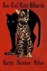 Leopard Pool Billiards Darts Poker Snooker Game Room Poster Repro FREE S/H $16.85 USD on eBay