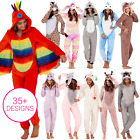 ONEZIE Ladies Unicorn Onezee All in One Fleece Zip Jumpsuit Pyjamas Nightwear