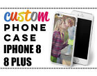 PERSONALISED CUSTOM PHOTO Phone Case Cover for iPhone 8 and 8 PLUS NEW