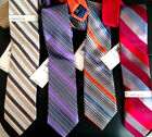 Silk Stripe Neck Tie Perry Ellis Portfolio 4 COLOR CHOICES New w/$55 Tag Necktie