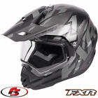 2018 FXR Torque X Core Snowmobile Helmet Electric Shield Black Ops MD LG XL