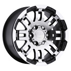 2 New 20X9 10 Offset  5x127 VISION Warrior Black  Wheels/Rims