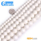 Natural White Shell Gemstone Round Beads For Jewelry Making Free Shipping 15""