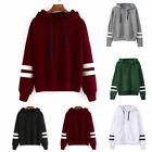 Casual Lady Girls Loose Hoodie Sweatshirter Hooded Pullover Suede Warm Tops