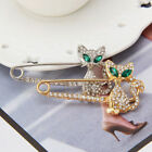 Chic Women Crystal Brooch Pin Gold Silver Lady Breastpin Fashion Accessory Gift