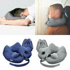 Inflatable Travel Pillow Compact Neck Pillow Cushion Camping Flight Neck Support
