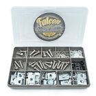 125 ASSORTED STAINLESS MOTORCYCLE FAIRING BOLT LUG NUT SPEED SPIRE CLIP KIT