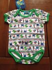 NEW*MON PETIT®Cute Baby BOYS Quality Short Sleeve One Piece*Green*3-6m or 6-9mth