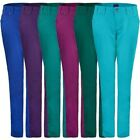 LADIES COTTON TWILL TROUSERS WOMENS COLOUR CROPPED JEANS UK SIZE 8-20 LENGTH 29""