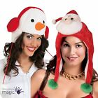 Adults Novelty Snowman Santa Father Christmas Xmas Hat Fancy Dress Accessory New