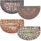 Large 75cm Heavy Duty Rubber Backed Half Moon Door Mat Welcome Indoor Outdoor