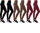 Winter Warmth Women's High-Waisted Solid Fleece Leggings 6 Pack