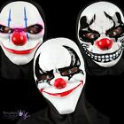 Sinister Freaky Clown Purge Horror Halloween Mask Hood Fancy Dress Accessory