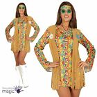 Ladies 60s 70s Hippie Hippy Fancy Dress Costume Headband Waistcoat Fringe Outfit