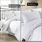800 1000 TC 100% Egyptian Cotton 3pc Duvet Set New Hotel White in Solid Striped