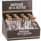15cm Traditional Message In A Bottle Gift Wedding Favours Bulk Cork Vial Jar