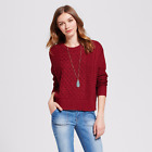 Women's Cable Pullover Sweater - Mossimo Supply Co.