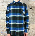 Fox Warped Long Sleeve Flannel Shirt in Black Size S,M