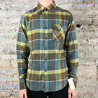Fox Warped Long Sleeve Flannel Shirt in Charcoal Size S