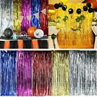Shimmer Fringe Foil Tinsel Curtain Window Backdrop Blinds Birthday Wedding Party