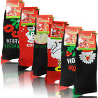 6 PAIRS MULTIPACK NEW MENS GENTS CHRISTMAS GIFT XMAS ANKLE SOCKS SIZE 6 TO 11