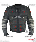 Xelement CF5050 Cordura level-3 Armored Motorcycle Jacket Vest Removable arms
