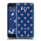 CUSTOM PERSONALISED ARSENAL FC 2017/18 CREST AND LOGO GEL CASE FOR HTC PHONES 1