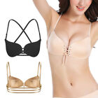 New Women Backless Strapless Push up Bra Self-Adhesive Invisible Bra Cross Back