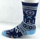 Tennessee Titans Football Ugly Christmas Sweater Football Yardline Crew Socks $10.49 USD on eBay