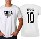 Cuba T-shirt Soccer Jersey any Sports Add Any Name and Number men's adults