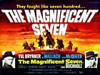 Magnificent Seven Yul Brynner Steve McQueen Vintage Movie Poster Reproduction