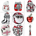 Hot 1pcs Silver Christmas European Charm Beads Fit 925 Necklace Bracelet Chain image