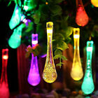 1.5M 10LED Colorful Glow Water Drop String Lights Party Wedding Decor Lights