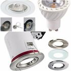 IP20 FIRE RATED or Non Fire Rated Ceiling Downlights GU10 5W LED BULB K3000/4500